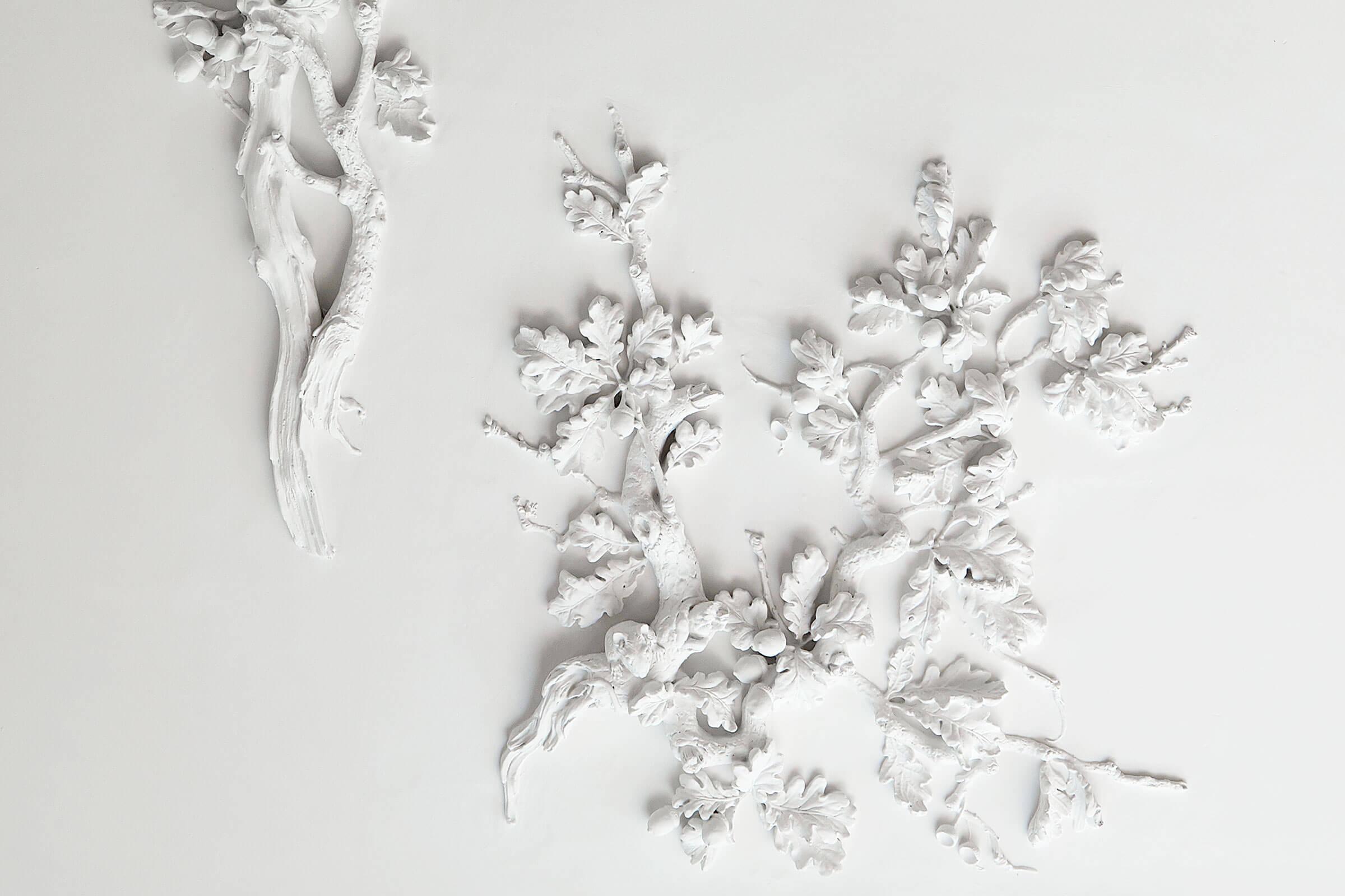 interiør stuk stukkatur claus lind © moderne håndværk egetræ