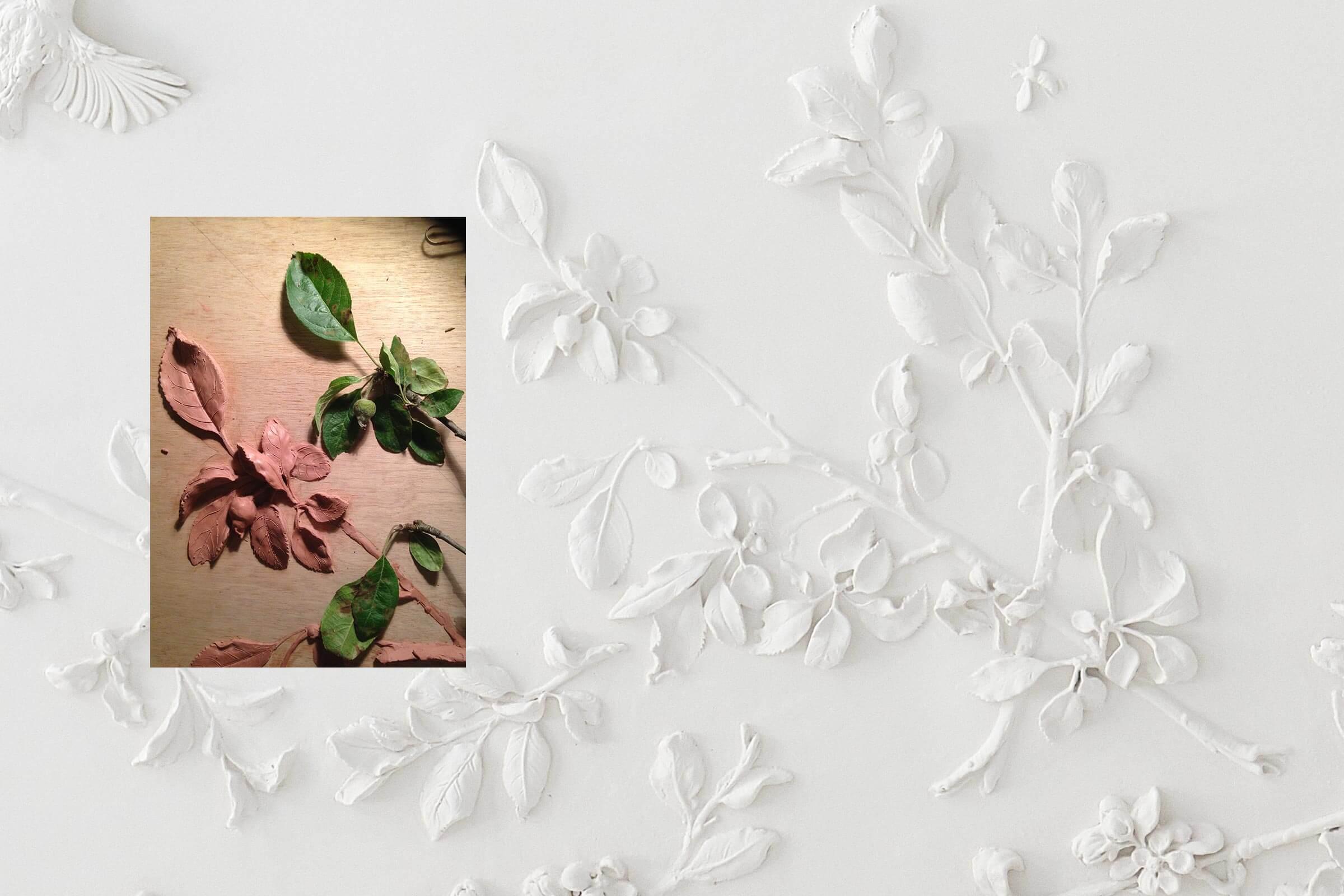 claus lind © modellering stukkatør stukloft roset stukkatur gips håndværk